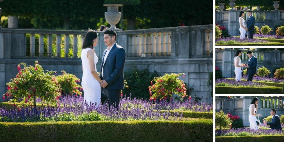 oakes garden theater engagement photography