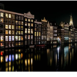 Amsterdam canals reflection